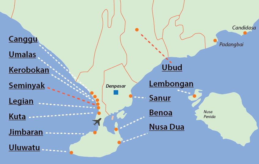 bali-map-tourist-areas-south – Blonde around the World